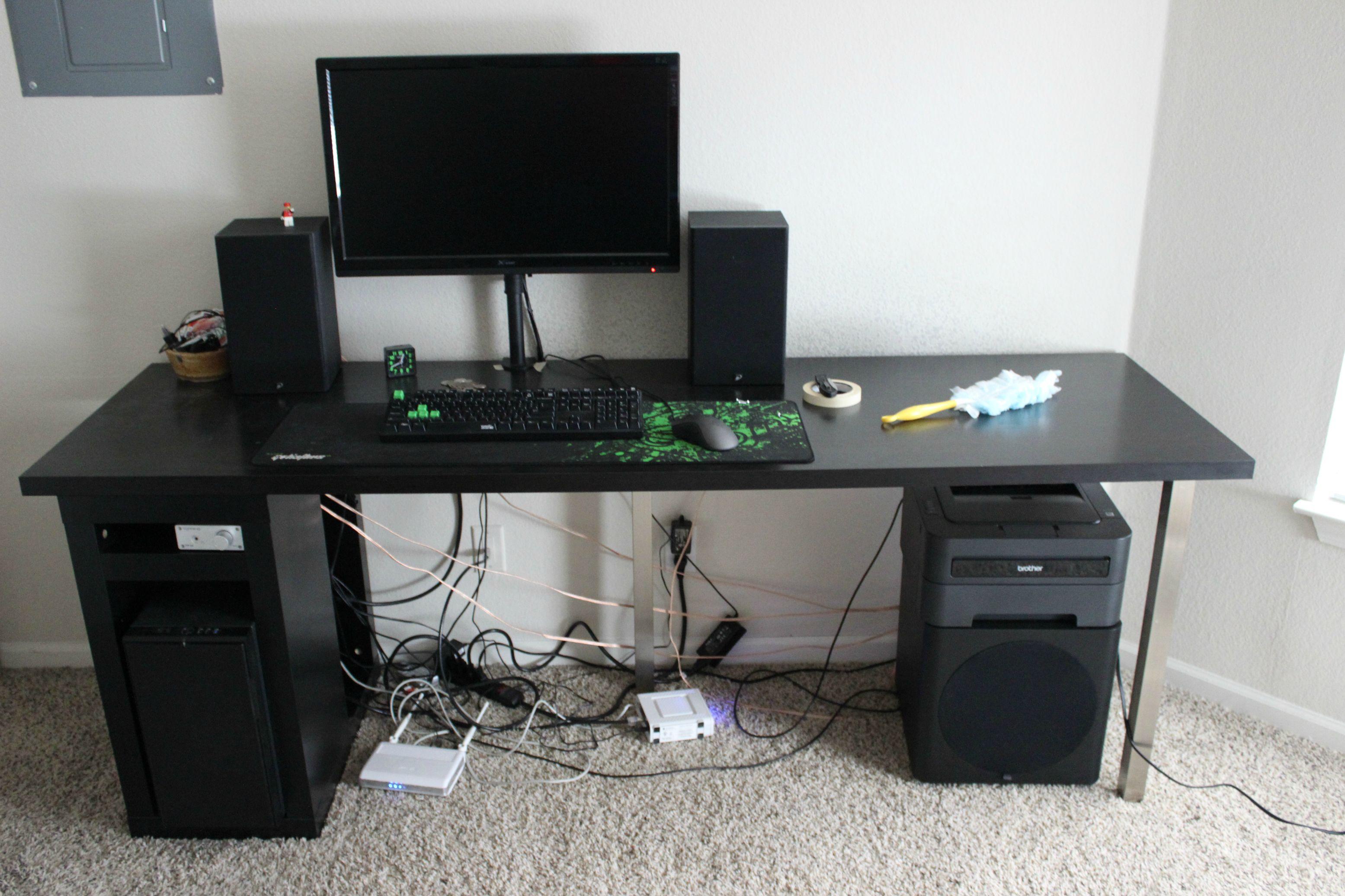 Ekby Alex Desk Ikea Desk Gaming Setup Hostgarcia