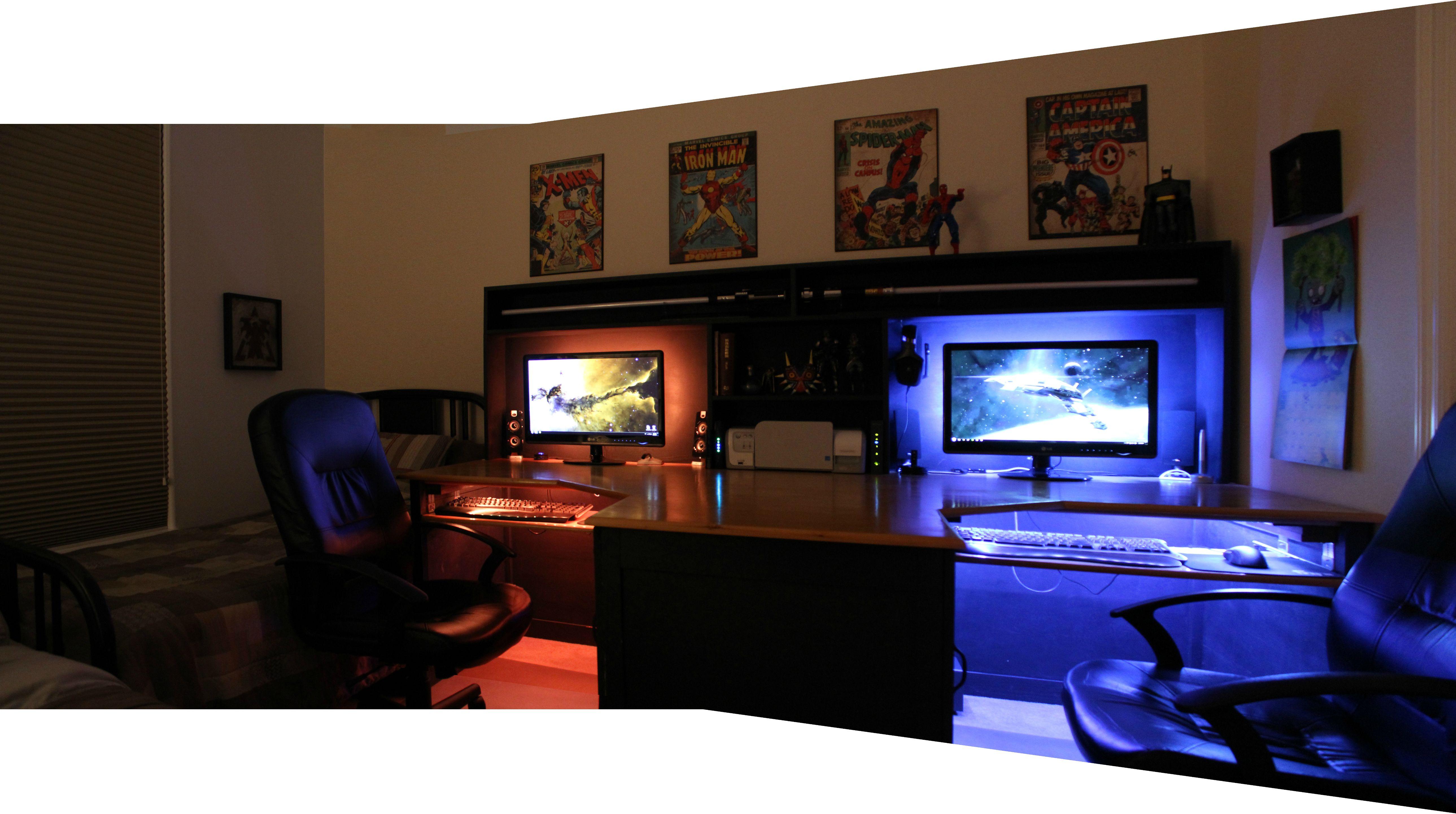 Cool computer setups and gaming setups for Bedroom simulator ikea