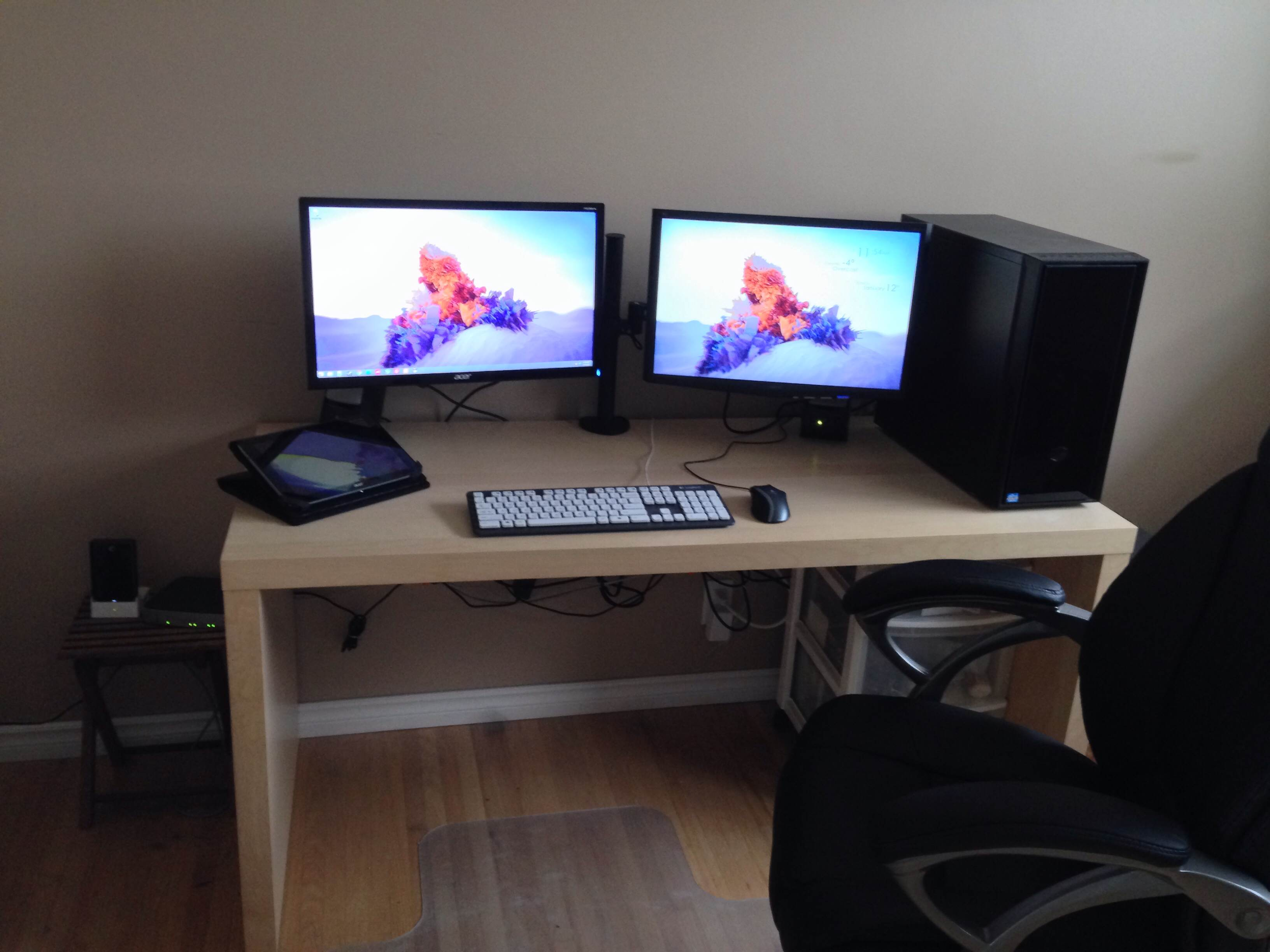 Ikea Desk Gaming Setup Hostgarcia