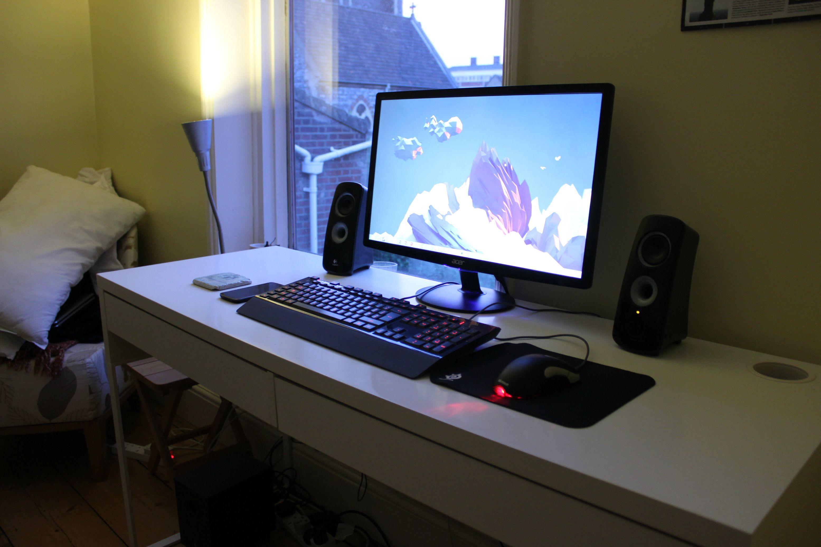 ikea desk gaming setup hostgarcia. Black Bedroom Furniture Sets. Home Design Ideas